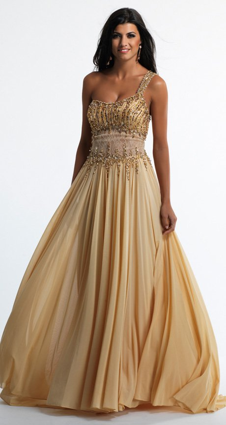 46bb142db3 Złota suknia wieczorowa 10474 - Evita