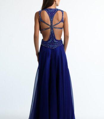 Atramentowa suknia wieczorowa 10634