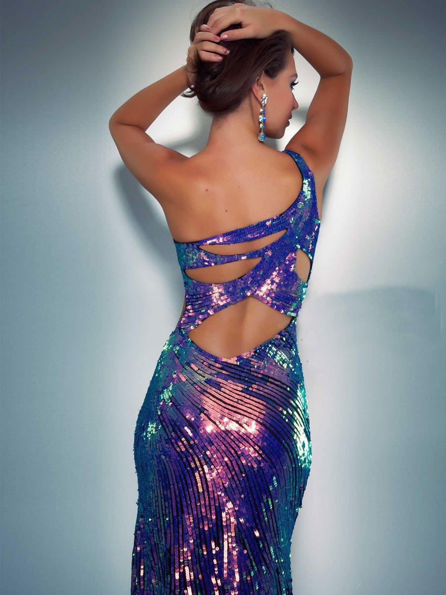 3702 suknia wieczorowa - Szare/srebrne