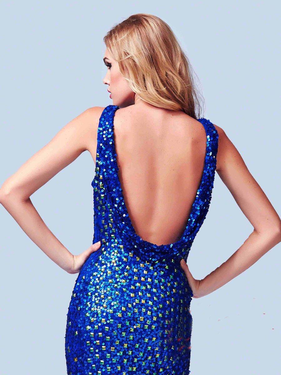 3737 suknia wieczorowa - Niebieskie/granatowe