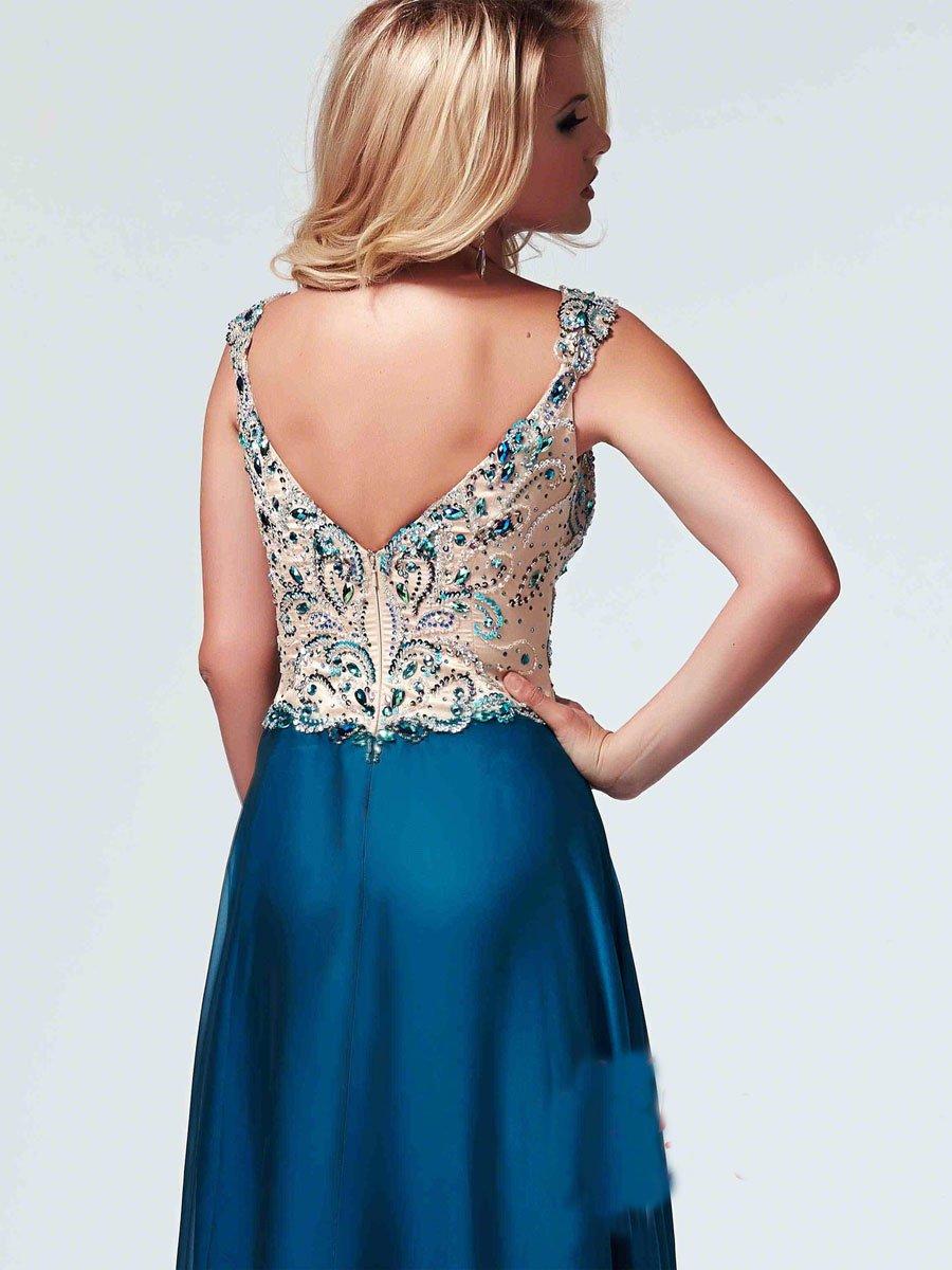 82025 suknia wieczorowa - Niebieskie/granatowe