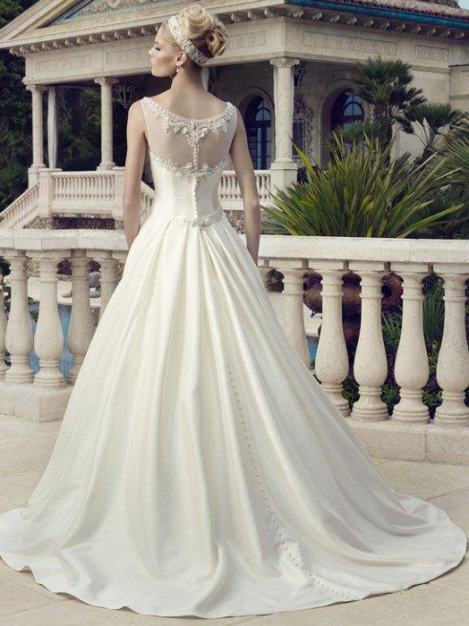 2154 gładka suknia ślubna - Suknie ślubne