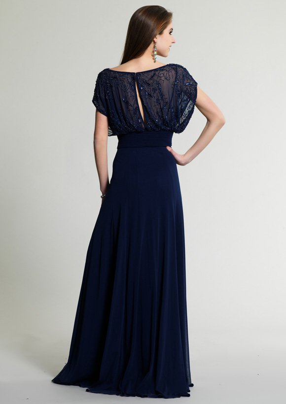 263 suknia wieczorowa - Niebieskie/granatowe