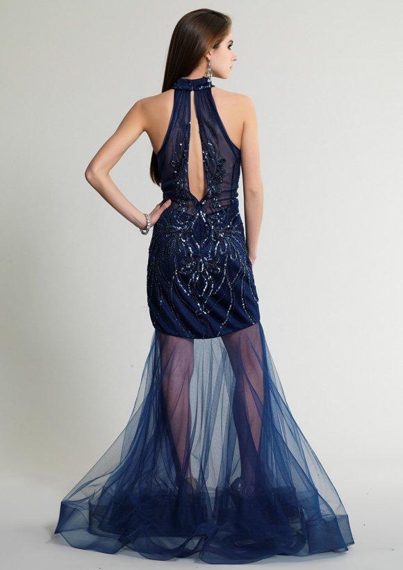 320 sukienka krótko-długa - Suknie wieczorowe