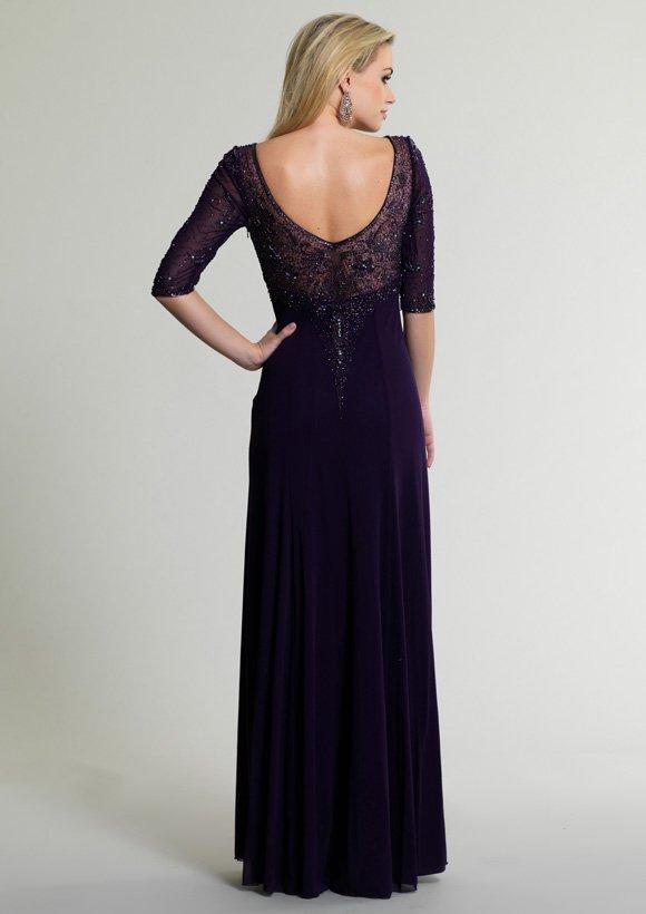 Suknia wieczorowa w kolorze atramentu 10682 - Suknie wieczorowe