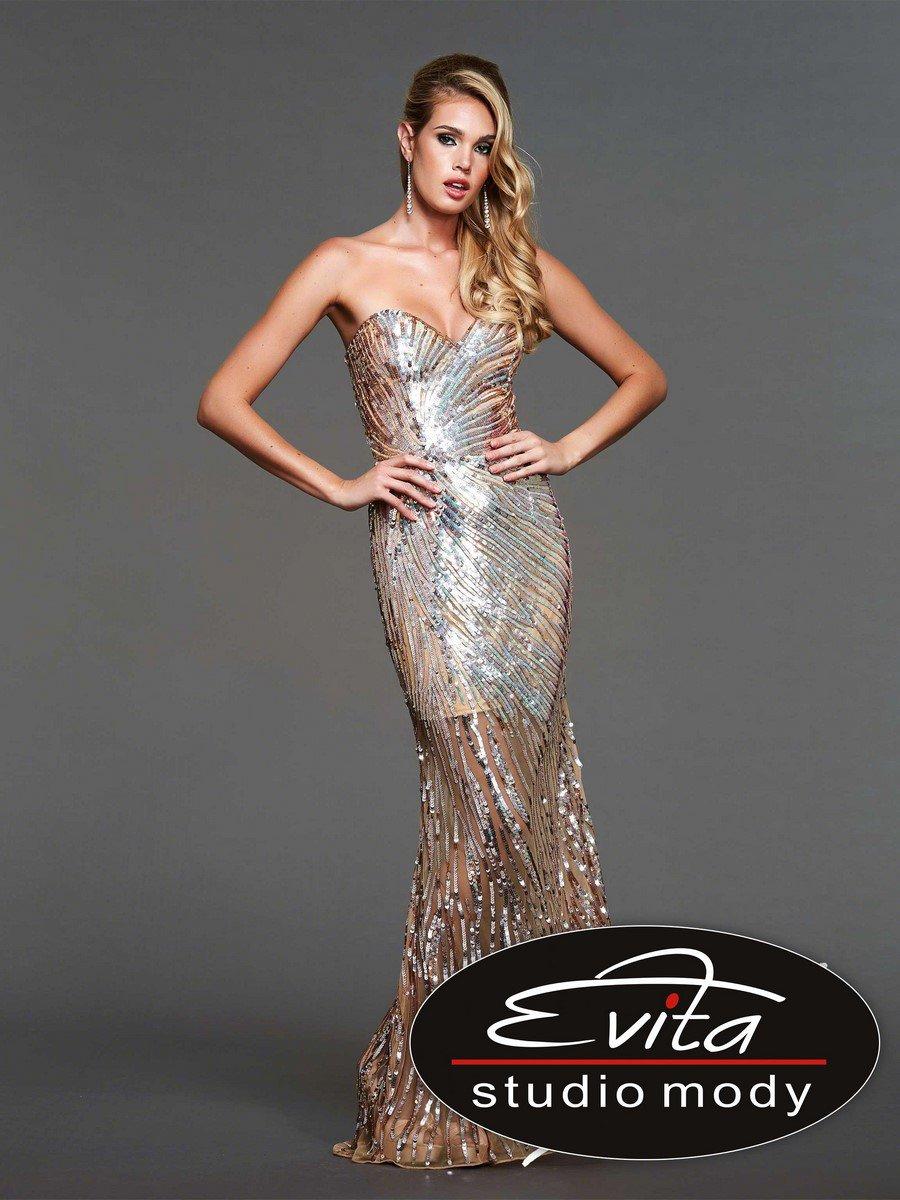 3988 suknia wieczorowa - Suknie wieczorowe