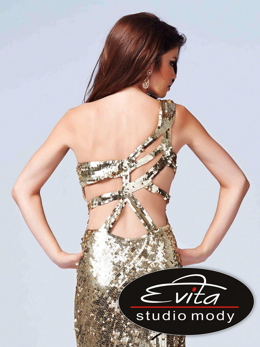 Suknia wieczorowa z rozcięciem 3995 - Suknie wieczorowe