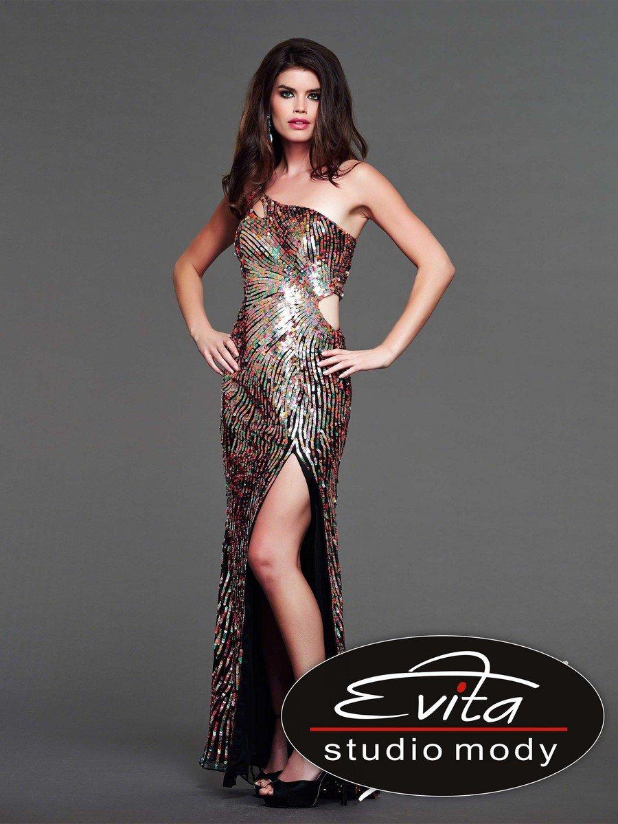 3998 suknia wieczorowa - Szare/srebrne