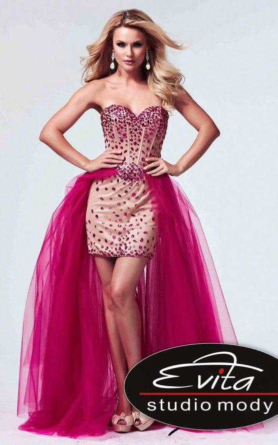 10004 suknia krótko-długa
