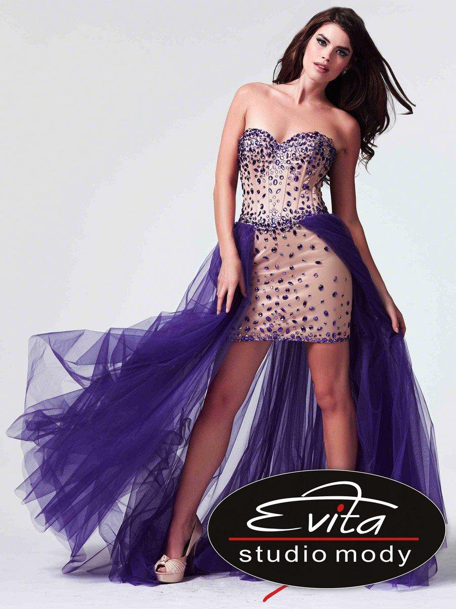 10004 suknia krótko-długa - Suknie wieczorowe