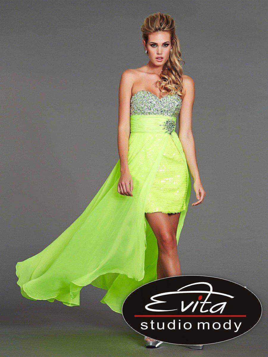 40319 suknia krótko-długa - Suknie wieczorowe