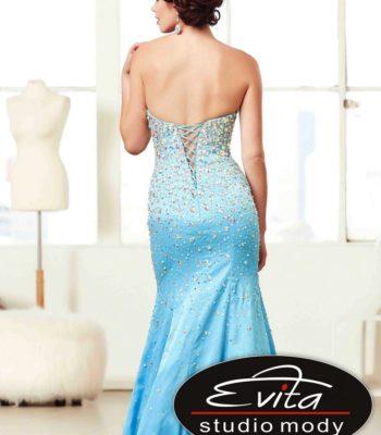 48053 biżuteryjna suknia wieczorowa