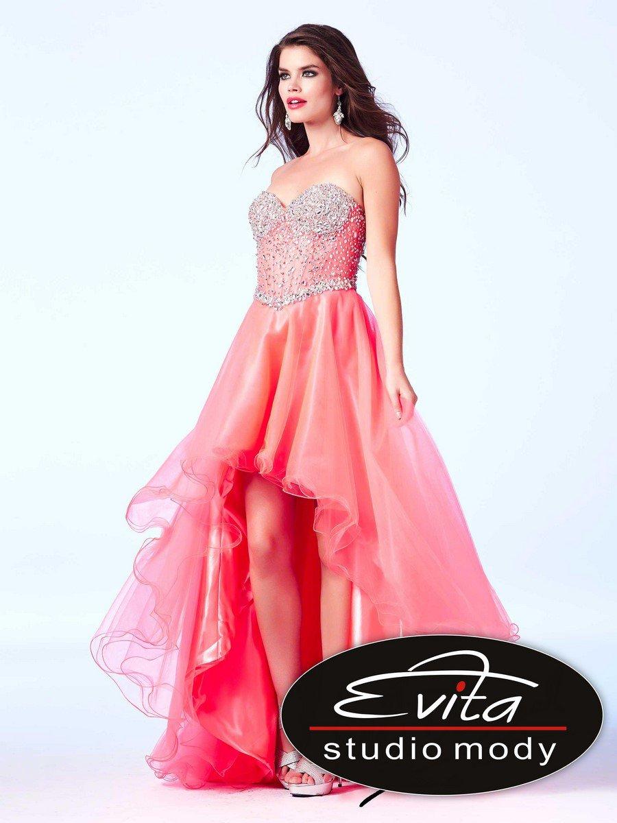 61691 asymetryczna suknia z gorsetem - Czarne