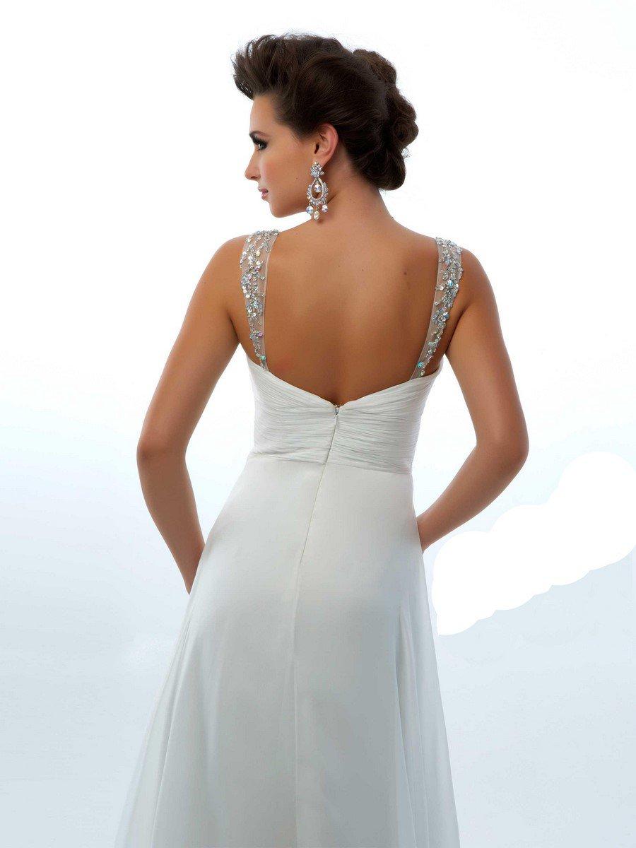 64420 suknia wieczorowa - Białe/beżowe