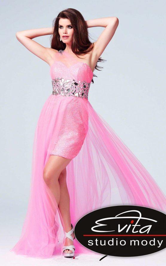 75560 sukienka krótko długa Evita