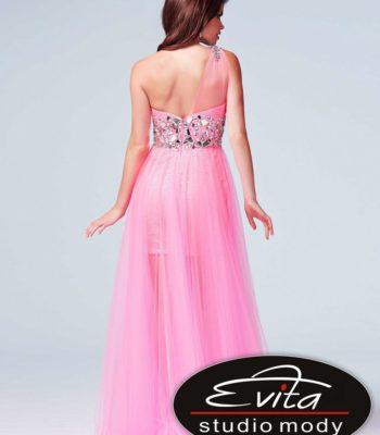 75560 sukienka krótko-długa