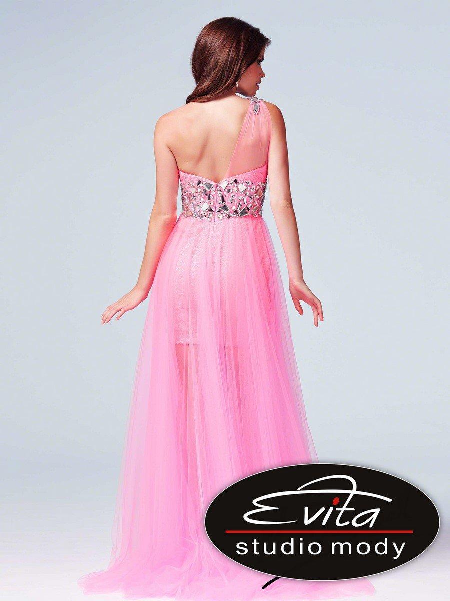 75560 sukienka krótko-długa - Suknie wieczorowe