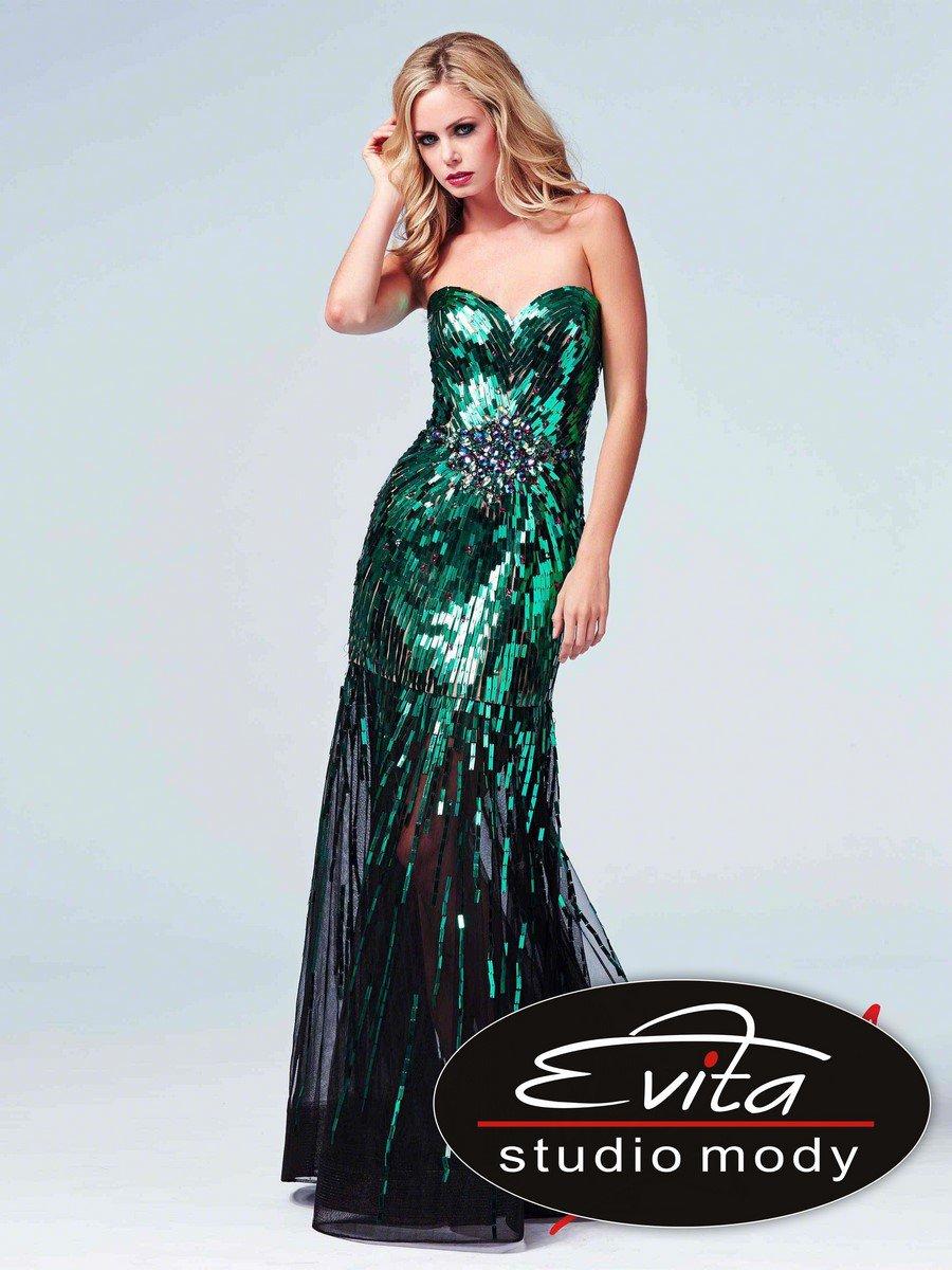 85089 połyskująca suknia wieczorowa - Suknie wieczorowe
