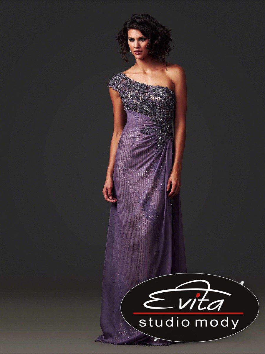 85206 liliowa suknia wieczorowa - Suknie wieczorowe