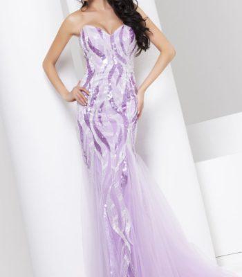 115527 cieniowana suknia wieczorowa w odcieniach niebieskiego