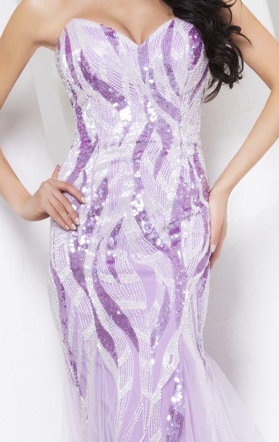 115527 cieniowana suknia wieczorowa w odcieniach niebieskiego - Suknie wieczorowe