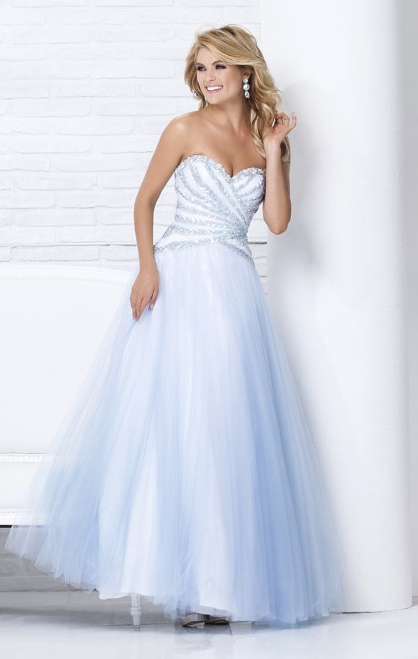 115557 błękitna suknia balowa - Białe/beżowe
