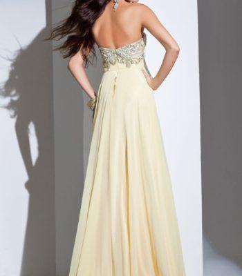 115714 cytrynowa suknia wieczorowa
