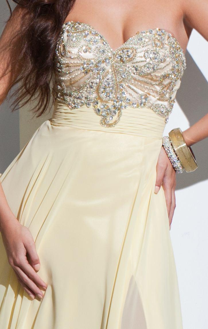 115714 cytrynowa suknia wieczorowa - Suknie wieczorowe