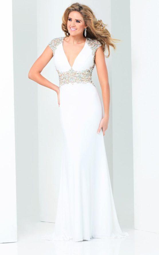 115728 biała suknia wieczorowa