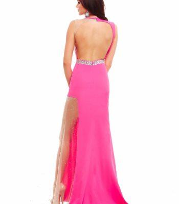 48271 suknia wieczorowa w kolorze fuksji