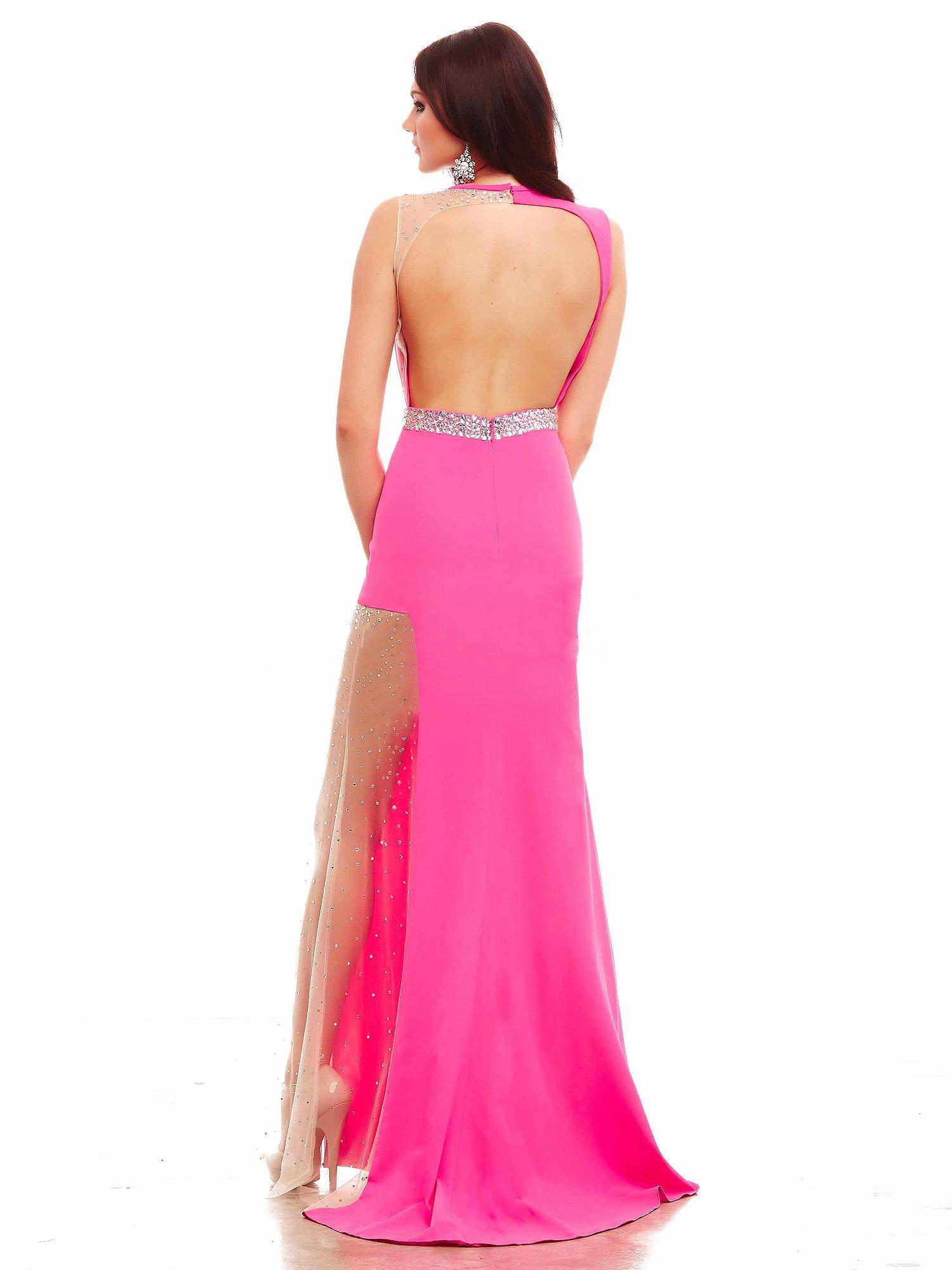 48271 suknia wieczorowa w kolorze fuksji - Suknie wieczorowe