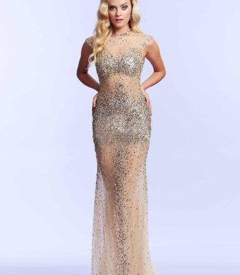 62117 cekinowa suknia wieczorowa