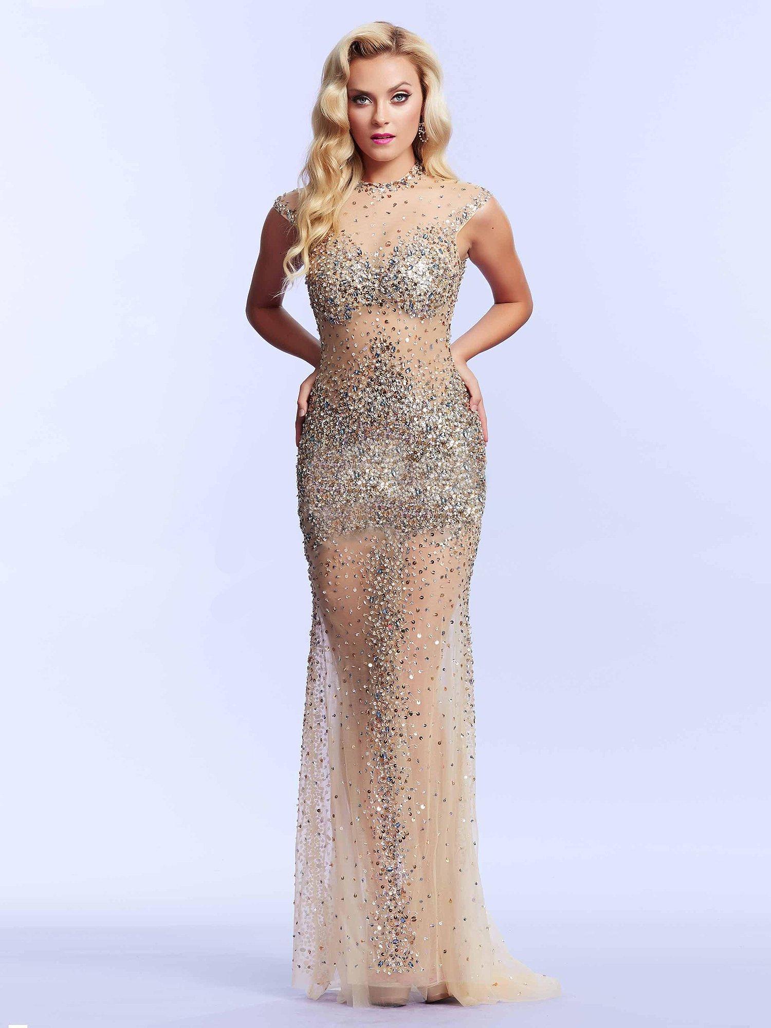62117 cekinowa suknia wieczorowa - Suknie wieczorowe