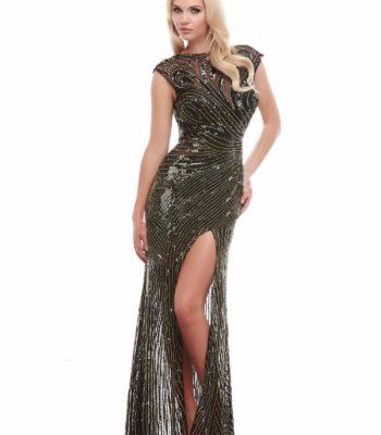 4116 cekinowa suknia wieczorowa