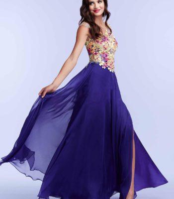 85436 suknia wieczorowa bez pleców