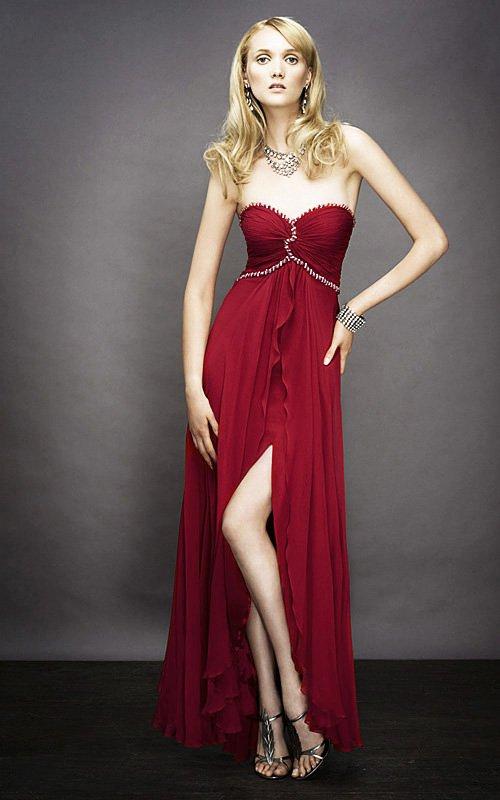 Czerwona, gorsetowa suknia wieczorowa 11929LF