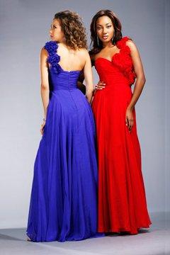 151627(J) suknia granatowa - Suknie wieczorowe