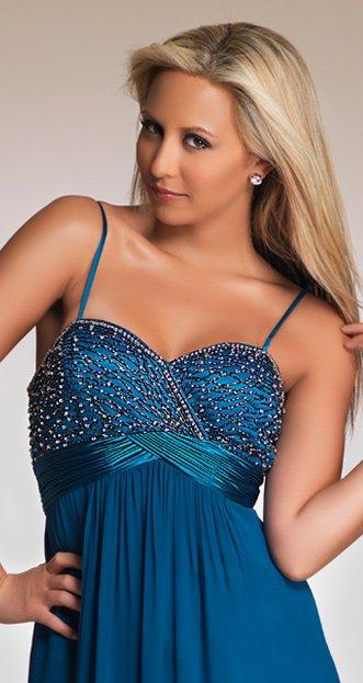 5680 suknia na ramiączkach - Suknie wieczorowe