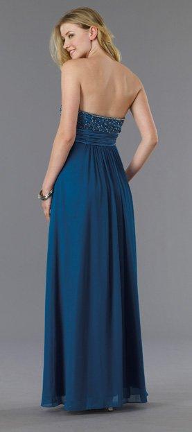5680 sukienka gorsetowa - Niebieskie/granatowe