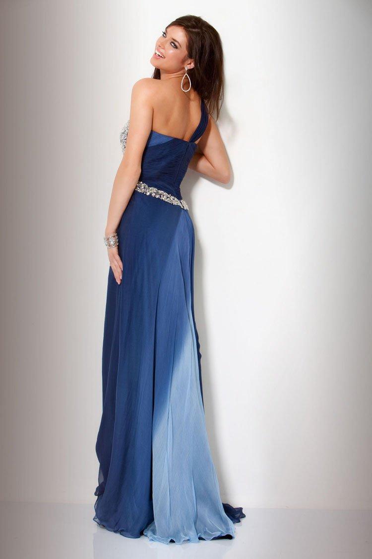 7139(J) suknia wieczorowa - Niebieskie/granatowe