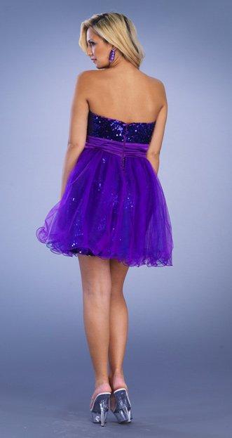 6724 sukienka sylwestrowa - Niebieskie/granatowe