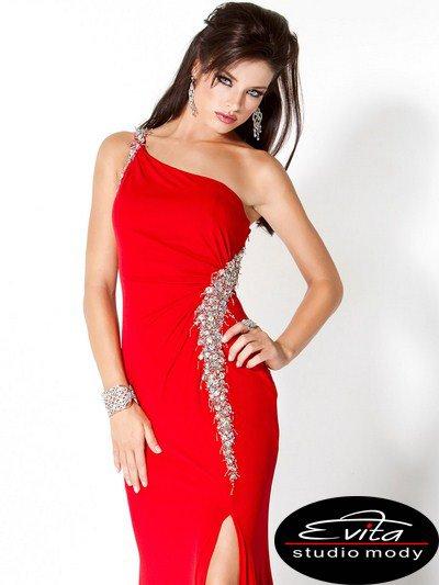 1765(J) sukienka na studniówkę - czerwone