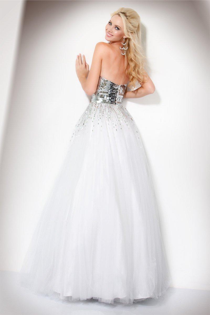 159499(J) suknia balowa - szare/srebrne
