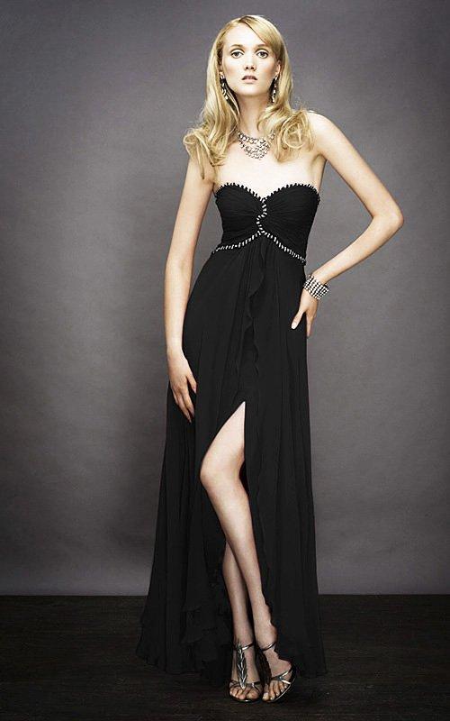Czarna, gorsetowa suknia wieczorowa 11929LF