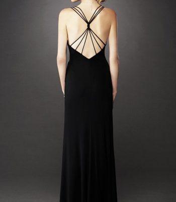 Czarna suknia 12717LF