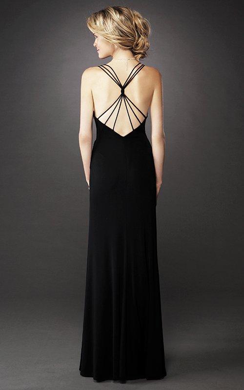 Czarna suknia 12717LF -