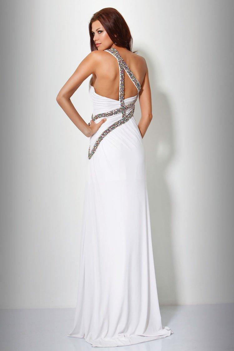 159778(J) sukienka - białe/beżowe
