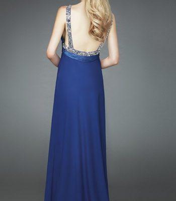 Zwiewna, czarna suknia wieczorowa 14584LF