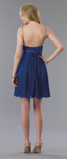 5769 sukienka - Niebieskie/granatowe