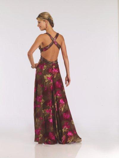 4732 suknia wieczorowa - kolorowe